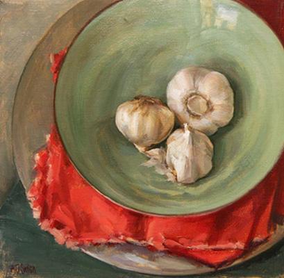 Garlic on Green