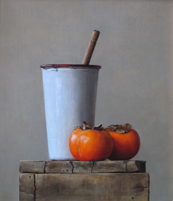 Persimmons On White  |  Private Collection