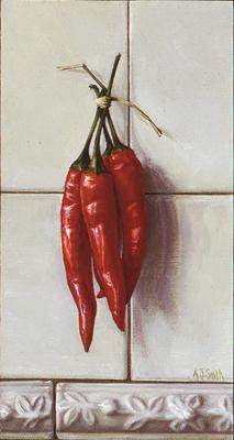 Peperoncini on Tile
