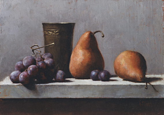 Pears and Grapes | Private Collection