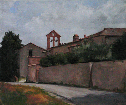Road at Montefiridolfi  |  Private Collection