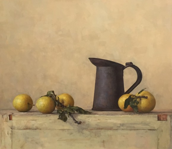 Composition In Yellow (Plums)