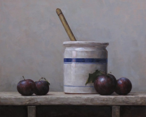 Plums With Blue Stripe |  Private Collection